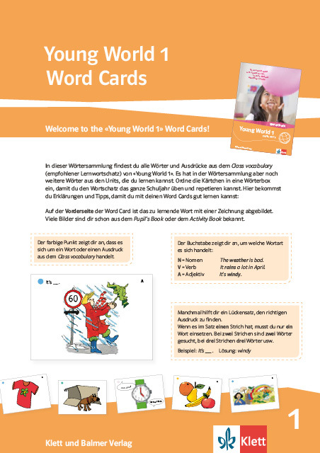 Word cards young world 1 978 3 264 84306 4 klett und balmer