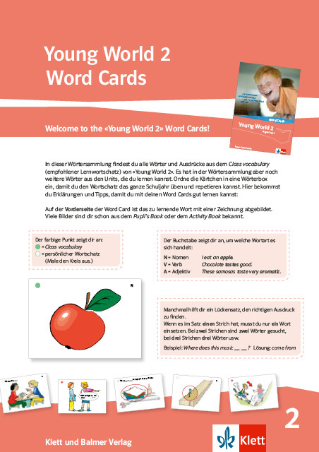Word cards young world 2 978 3 264 84316 3 klett und balmer