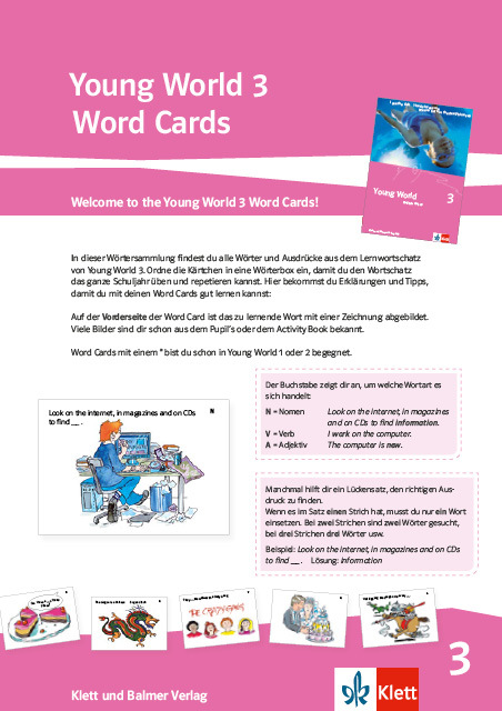 Word cards young world 3 978 3 264 84178 7 klett und balmer