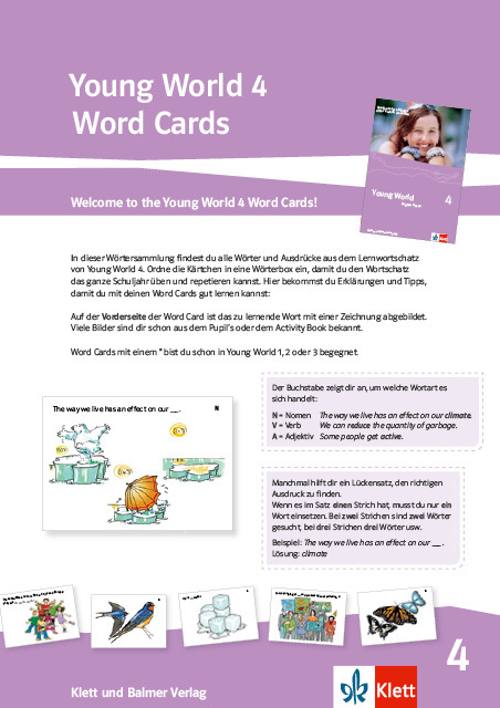 Word cards young world 4 978 3 264 84179 4 klett und balmer