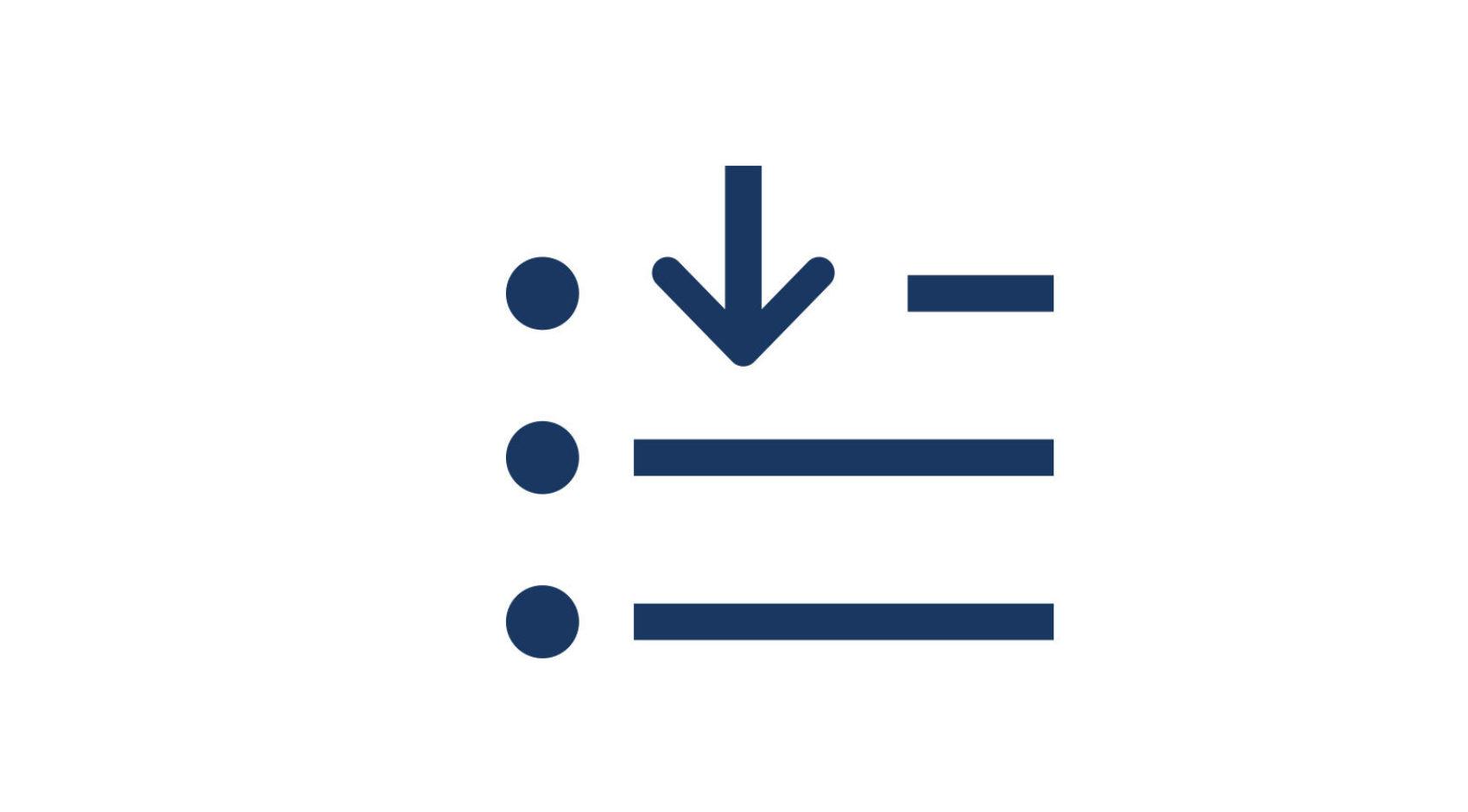 Einkaufsliste Symbol klett und balmer