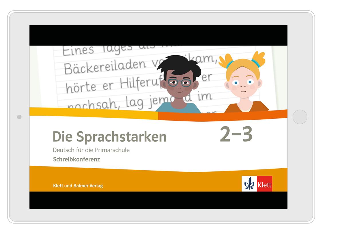 Startbild Schreibkonferenz Tablet mit Fläche Web