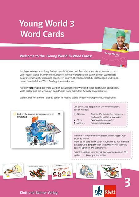 Word Cards 3 Young World 84326 klett und balmer