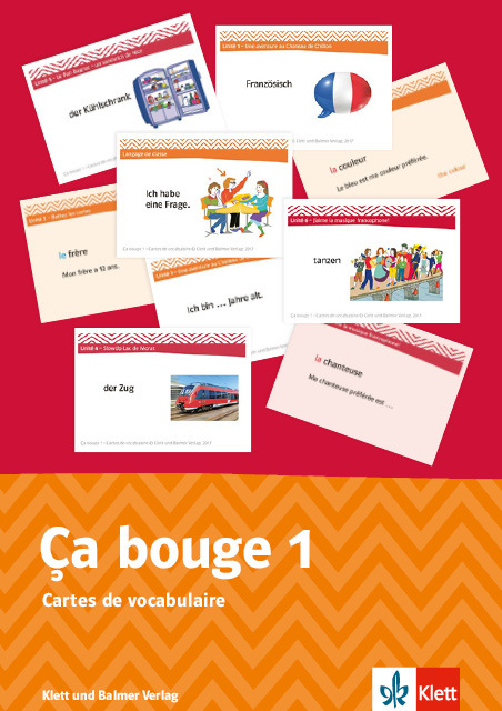 Cartes de vocabulaire ca bouge 1 2 978 3 264 84057 5 klett und balmer