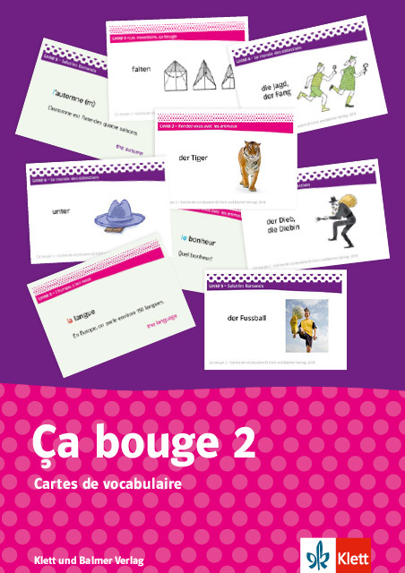 Cartes de vocabulaire ca bouge 2 978 3 264 84067 4 klett und balmer
