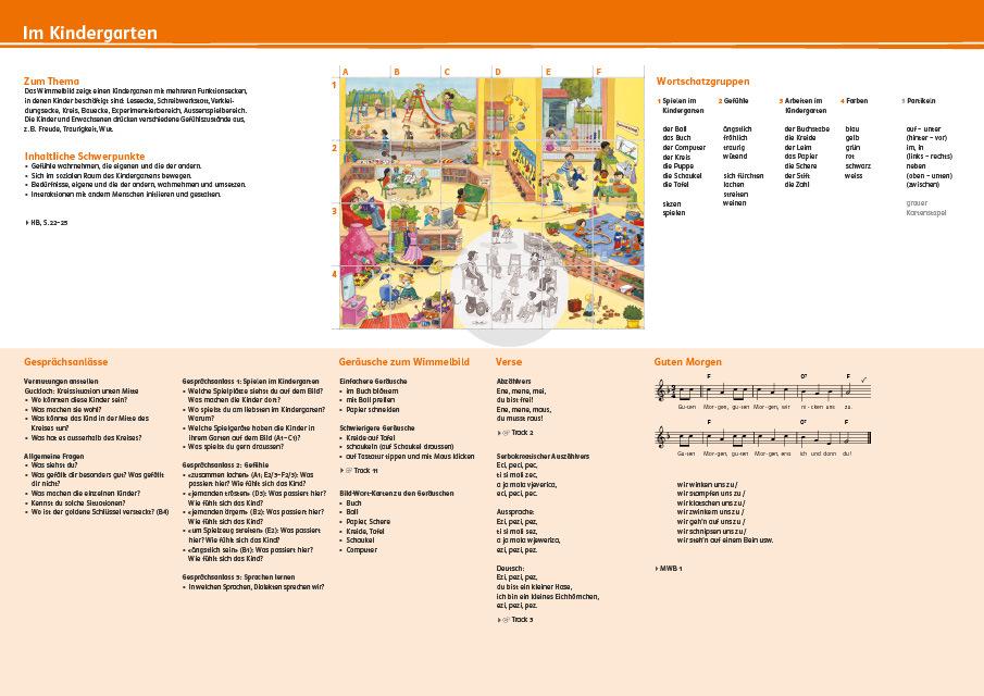 Kindergarten wimmelbilderbuch r mein sprachschluessel 978 3 264 83990 6 klett und balmer