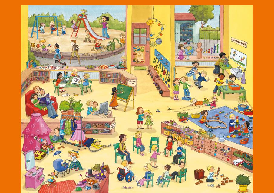 Kindergarten wimmelbilderbuch v mein sprachschluessel 978 3 264 83990 6 klett und balmer