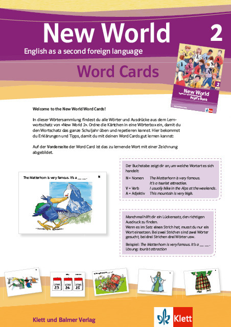 Word cards new world 2 978 3 264 84189 3 klett und balmer