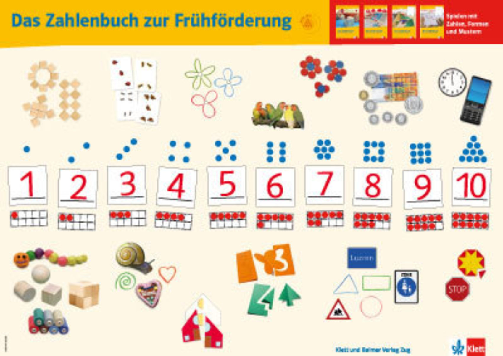 Zahlenbuch zur Frühförderung Plakat Zahlen und Formen 1978 3 264 10169 0