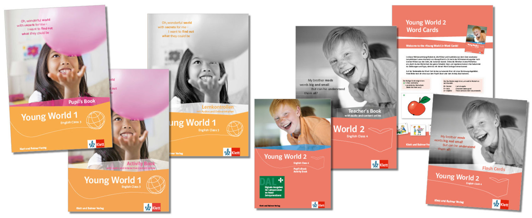 Teaser lehrwerksteile young world 1 2 neu klett und balmer
