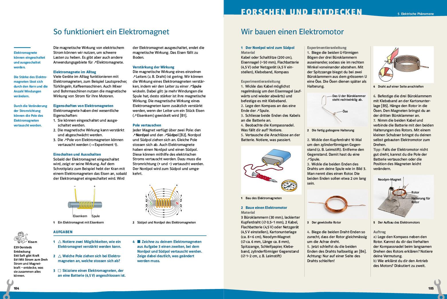 Elektromagnet 104 105 didaktik prisma klett und balmer