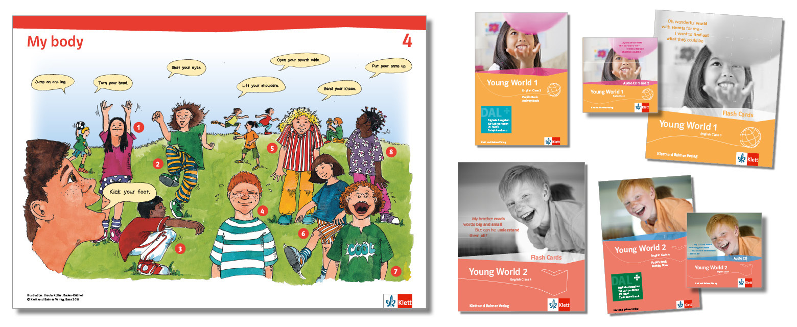 Teaser lehrwerksteile poster dal audio flash cards young world klett und balmer
