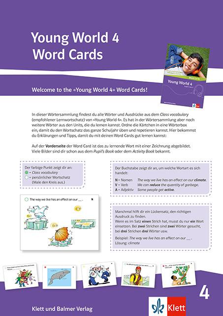 Youngworld 4 word cards 978 3 264 84336 1 klett und balmer